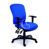 """MAYAH Irodai szék, állítható karfával, kék gyöngyszövet-borítás, fekete lábkereszt, MAYAH """"Comfort"""""""