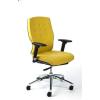 """MAYAH Irodai szék, állítható karfával, sárga szövetborítás, alumínium lábkereszt, MAYAH """"Sunshine"""""""