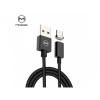 Mcdodo mágneses USB kábel USB-C konektorral és világító indikátorral Apple MacBook - fekete