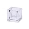 Mécsestartó négyszögletes üveg 5x5cm