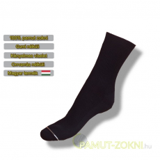 Medical, gumi nélküli zokni - fekete 35-36