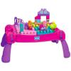 MEGA Bloks: Építő játékasztal kockákkal - lányos