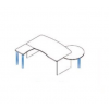 Megrendeléstől számított kb. 2 hét KIV-180/102 vezetői íróasztal (180 x 102 cm-es laplábas vezetői munkahely)