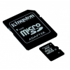 Memóriakártya, microSDHC, 8GB, Class 4 + SD Adapter, Kingston
