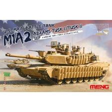 Meng-Modell MENG-Model U.S.Main Battle Tank M1A2 SEP AbramsTUSK TUSK I/TUSK II makett TS-026 makett figura