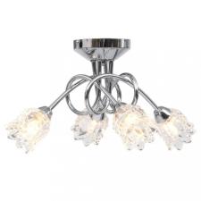 Mennyezeti lámpa 4 db G9-es izzóhoz tartozó virágos üvegbúrával világítás