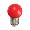 Mentavill Színes LED lámpa E27 (1W/200°) Kisgömb - piros