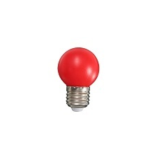Mentavill Színes LED lámpa E27 (1W/200°) Kisgömb - piros izzó