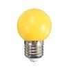 Mentavill Színes LED lámpa E27 (1W/200°) Kisgömb - sárga