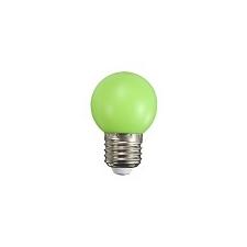Mentavill Színes LED lámpa E27 (1W/200°) Kisgömb - zöld izzó