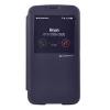 Mercury Goospery Mercury Easy View Samsung I9500 Galaxy S4 oldalra nyitható ablakos tok sötétkék
