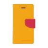 Mercury Goospery Mercury Fancy Diary LG H815 G4 kinyitható tok sárga-sötétpink