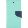Mercury Goospery Mercury Fancy Diary Samsung G900 Galaxy S5 kinyitható tok menta-kék