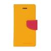 Mercury Goospery Mercury Fancy Diary Samsung T330 Galaxy Tab 4 8.0 kinyitható tok sárga-sötétpink