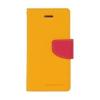 Mercury Goospery Mercury Fancy Diary Samsung T530 Galaxy Tab 4 10.1 kinyitható tok sárga-sötétpink