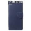 Mercury notesz / mappa tok - SÖTÉTKÉK - oldalra nyíló flip cover, mágneses záródás, asztali tartó funkció, bankkártyatartó zseb, szilikon belsõ - SAMSUNG SM-G965 Galaxy S9+ - GYÁRI