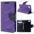 Mercury notesz tok / flip tok - LILA / SÖTÉTKÉK - asztali tartó funkciós, oldalra nyíló, rejtett mágneses záródás, bankkártya tartó zsebekkel, szilikon belsõ - SONY Xperia Z5 Compact