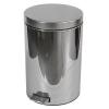 MERIDA Clean fém szemetes kosár, 20 l térfogat, fényes rozsdamentes acél