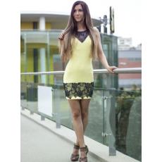 Meringue fashion AKCIÓ kék csipkebetétes nõi ruha