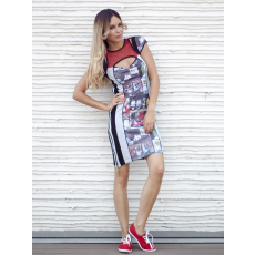 Meringue fashion AKCIÓ színes olasz motoros necc nõi ruha