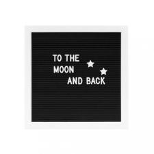 MESSAGE BOARD betű tábla 30x30cm fekete dekoráció