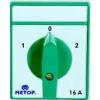 Metop beépíthető ipari kézikapcsoló 3 pólus 10A háromállásu 1-0-2