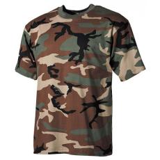MFH álcázó trikó woodland minta, 160g/m2