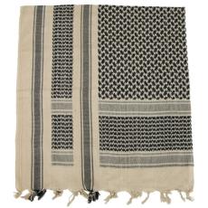 MFH PLO pamut arafat kendő fekete-homok 115 x 110cm