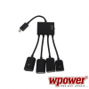 Micro USB OTG HUB kábel töltési funkcióval