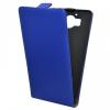 Microsoft Lumia 950, Forcell lenyitható bőrtok, Slim Flip, felfelé nyíló - kinyitható, kék