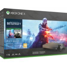Microsoft Xbox One X 1TB + Battlefield V Gold Rush Special Edition konzol