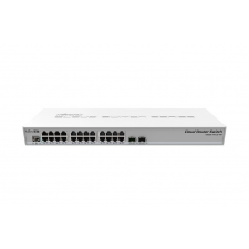 MIKROTIK RouterBoard CRS326-24G-2S+RM 1U 24port GbE LAN 2x SFP+ uplink Cloud Router Switch hub és switch