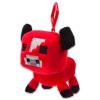 Minecraft: bika kulcstartó plüssfigura - piros