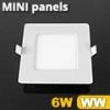 Mini négyzet LED panel (120x120 mm) 6 Watt meleg fehér