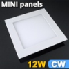 Mini négyzet LED panel (170x170 mm) 12 Watt hideg fehér
