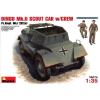 MiniArt DINGO Mk.II SCOUT CAR w_CREW Pz.Kmpf. Mk.I 202(e) tank harcjármű makett Miniart 35074