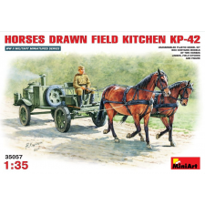 MiniArt HORSES DRAWN FIELD KITCHEN KP-42 figura makett MiniArt 35057 makett figura