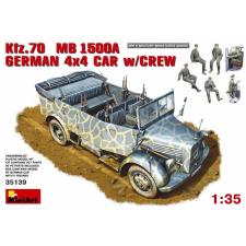 MiniArt Kfz. 70 (MB L1500A)German 4x4 Car w_Crew katonai jármű makett Miniart 35139 makett figura