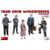 MiniArt Tram Crew with Passengers figura makett Miniart 38007