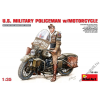 MiniArt - U.S.Millitary Policeman with Motorcycle