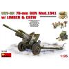 MiniArt USV-BR 76mm Gun Mod.1941 w/Limber &Crew löveg makett Miniart 35129