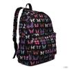 Miss Lulu London E1401B - Miss Lulu nagyméretű hátizsák táska pillangó fekete