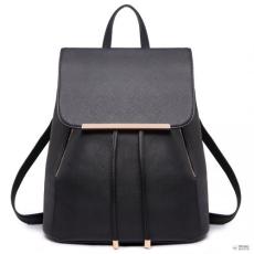 Miss Lulu London E1669 - Miss Lulu szintetikus bőr stílusos divat hátizsák táska fekete