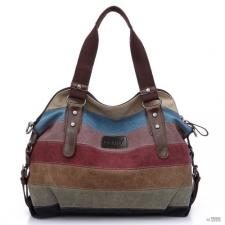 4cf485938403 Miss Lulu London E1677- Kono női válltáska táska oldal táska Rainbow csíkos  kézitáska és bőrönd