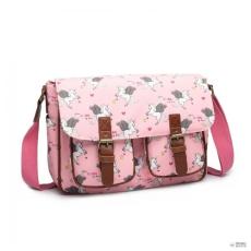 f65d53bdaa2d Miss Lulu London L1107 UN - Miss Lulu matt vászon Unicorn táska - rózsaszín