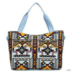 Miss Lulu London L1515-1CN - Miss Lulu vonatdi Mayan bevásárló táska táska kék