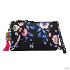 Miss Lulu London LG6803-MISS LULU POMPOM medál kézi táska válltáska táska NAVY medál