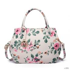 Miss Lulu London LH1633-17F - Miss Lulu Structuredmattte Oilcloth válltáska táska Flower Print