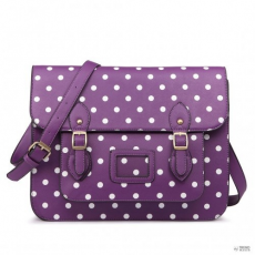 Miss Lulu London LT1665D2 - Miss Lulu Polka Dot Work táska lila