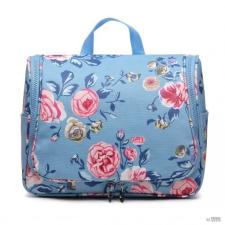 Miss Lulu London LT1757-17F BE - Miss Lulu try utazó táska Flower Print kék kézitáska és bőrönd
